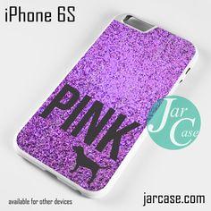 Purple Glitter Victoria's Secret Phone case for iPhone 6/6S/6 Plus/6S plus