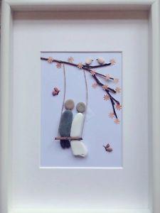 Handmade, Bespoke Pebble Art Pictures - Personalised Wedding Gift | eBay