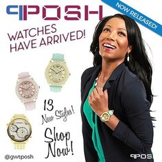 The POSH WATCHES have ARRIVED!!! Shop 13 Brand New Designs in Men's, Ladies and Unisex Styles! ONLINE NOW > www.gwtcorp.com  #POSH #POSHWatches #Timepieces #fashion #NEWRelease #BrandNewStyles #SHOPNOW #designer #gwtcorp #gwtposh