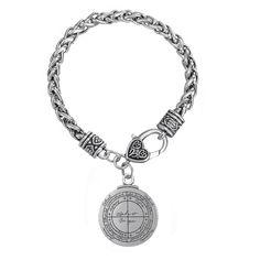 Le cinquième Pentacle de Saturne Key of Solomon Seal Charme Chaîne Bracelet Pulseras