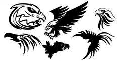 Tattoo Eagle Free Vector