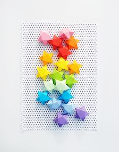 How-To: Cut-and-Fold Paper Stars #paper #crafts #DIY
