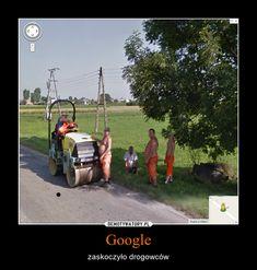 Google – zaskoczyło drogowców Best Memes, Funny Memes, Toilet Art, Polish Memes, Gift Finder, I Laughed, Haha, Monster Trucks, Humor