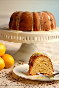 Lemon Bundt with Lemon Curd Filling for #BundtaMonth | A Baker's House