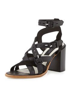 Rag & Bone Leith Leather City Sandal, Black $495.00