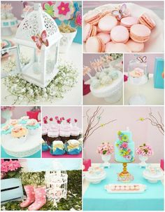 Butterfly Garden Party with Lots of Cute IDEAS via Kara's Party Ideas | Kara'sPartyIdeas.com #Butterflies #Shower #Idea #Supplies #Vintage (...