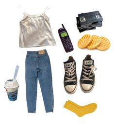 """Weekends"" by ohwellitriedx on Polyvore featuring Converse and Maria La Rosa"