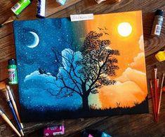 Beautiful art journal spread.