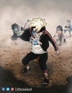Boruto using Karma from Boruto: Naruto Next Generation chapter 25 by Cao Đức Boruto And Sarada, Naruto Kakashi, Naruto Shippuden Anime, Anime Naruto, Baruto Manga, Naruto And Sasuke Wallpaper, Mangekyou Sharingan, Black Clover Manga, Boruto Next Generation