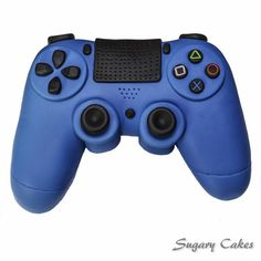 Personalised handcrafted playstation 4 controller cake topper for cake decorating Birthday Cakes For Men, Cakes For Boys, Computer Cake, Playstation Cake, Xbox Cake, Play Stations, Teddy Bear Cakes, Triangles, Fondant Toppers