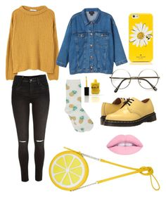 """I LOVE THIS SO MUCH"" by caroline-is-pop-punk ❤ liked on Polyvore featuring MANGO, Monki, M&Co, Kate Spade, ZeroUV, River Island, Dr. Martens and Lauren B. Beauty"