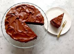 Perfect Chocolate Cake adapted from Hershey's (coffee instead of boiling water, applesauce instead od oil)