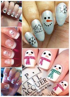 Christmas Nails, Acrylic Nails, Nail Polish, Nail Art, Maria Jose, Beauty, Ideas, Snowman Nails, Snowflake Nails
