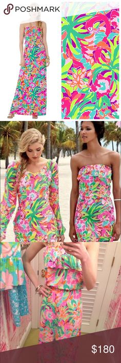 LILLY PULITZER 💕 LULU Maxi Dress One of Lilly's Holy Grail prints and hard to find! Great condition. No trades please. Lilly Pulitzer Dresses