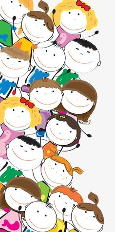 Cartoon kids image PNG and Clipart