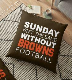 Ugh, I hate bye week. Cleveland Browns Wallpaper, Cleveland Browns Football, Football S, Football Cakes, Cle Browns, Baker Mayfield, Browns Fans, Super Bowl Sunday, Floor Pillows