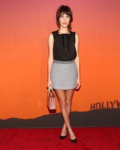Alexa Chung wore Louis Vuitton to the 2013 Whitney Gala.