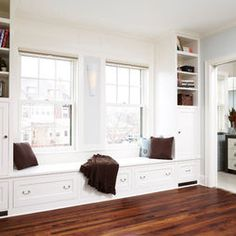 Bedroom Window Seat Storage Design, Pictures, Remodel, Decor and Ideas