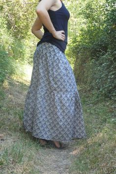 Diy Jupe, High Waisted Skirt, Summer Outfits, Chiffon, Camille, Boho, Skirts, Adeline, Sewing Diy