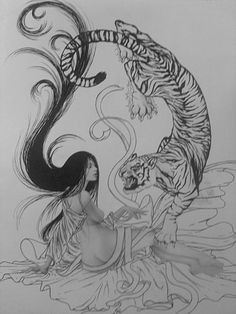 sketches of tigers by pencil - Google Search
