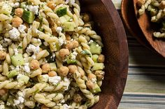 Dill, Chickpea, and Feta Pasta Salad from Chow #SaladBarNation