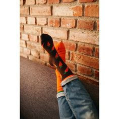skarpetki w marchewkę Many Mornings Garden Carrots socks oddsocks - polscy projektanci / polish designers - made in poland - elska.pl