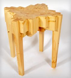 Reclaimed Wood Stool By REdesign Studios. Made from recycled scraps of 2x4s.