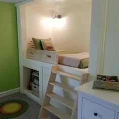 These readers expanded their sons' room by building a bunk and shelving into a little-used closet. | thisoldhouse.com/yourTOH
