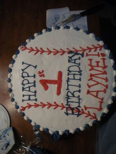 baseball theme for a boy first birthday | was the big cake for a 1 year old s baseball themed birthday