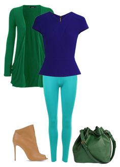 Light spring's green is a true green. I paired it with blues that are next to it on the light spring color wheel. Fun!  Here's an outfit I styled a while ago thatuses green, blue and teal together. All 3 colors are right next to each other on the light spring color wheel.    Hav