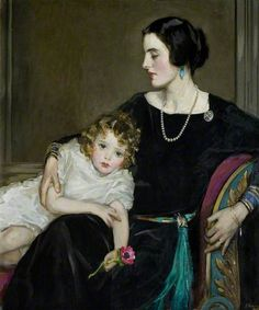 Anne Moira and the Honourable Mrs Forbes-Sempill by John Lavery, 1923.