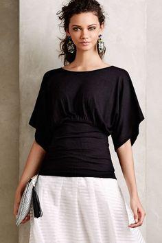 Ribbed Kimono Tee - anthropologie.com
