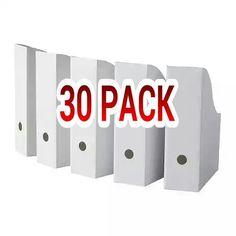 Ikea Flyt Magazine File, White - Set Of 30, 2015 Amazon Top Rated File Folder Racks & Holders #Home