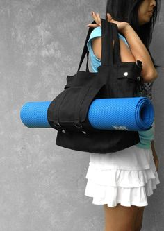 CARSON with Yoga compartment // Made to Order // Highpants Baby // Handmade // Everyday Canvas Bag // Sale