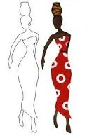 african woman applique