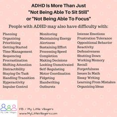 ADHD is a disorder condition which is first recognized in childhood years. It is a mind based trouble which exposes that metabolic process in ADHD kid's brain is lower and it affect their focus behaviors social judgment and also activities. Adhd Odd, Adhd And Autism, Autism Parenting, Infp, Adhd Facts, Adhd Quotes, Adhd Signs, Adhd Help, Adhd Brain