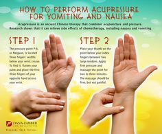 How To Perform Acupressure for Vomiting and Nausea