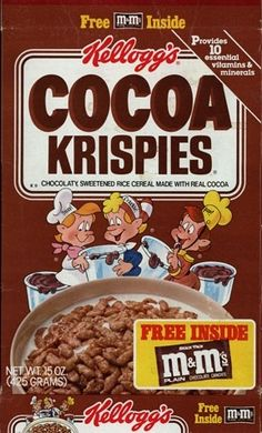New Cereal, Rice Cereal, Cereal Boxes, Cocoa Krispies, Friends, Breakfast, Favorite Things, Food, Vintage