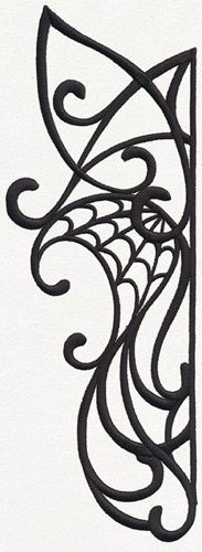 Gothic Nouveau - Flourish | Urban Threads: Unique and Awesome Embroidery Designs