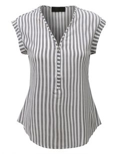LE3NO Womens Sleeveless Striped Front Zip Up Blouse Top Refashion camisa masculina?
