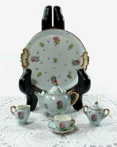 Occupied Japan Miniature Porcelain Tea Set by RidleysRecycling, $19.00