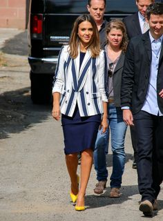 When Jessica Alba isn't dazzling on the red carpet, she's  turning heads with her enviable street style.