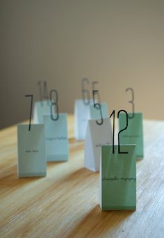 pop up seating cards