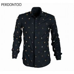 >> Click to Buy << New Men's Quality Euro American Fashion Metal Stars Rivets Black Cool Party Long Sleeve Dress Shirt Casual Masculinas Camiseta #Affiliate