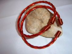 Twisted Copper Wired Bangle & Hoop Earring Set by TracysJC on Etsy, $55.00