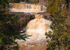 Gooseberry Falls on the north shore of Lake Superior.