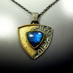 Sterling Silver Gold Vermeil Pendant by oblivionjewellery...pinned by ♥ wootandhammy.com, thoughtful jewelry.