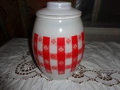 Bartlett Collins Glass Cookie Jar