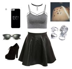 """""""Destiny outfit #1"""" by destinysos ❤ liked on Polyvore featuring Pilot, Ray-Ban and New Look"""