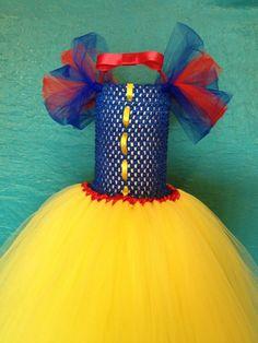 Snow White Princess Tutu Dress Girls 4T5T by TulleBoxTutus on Etsy, $50.00